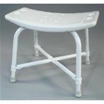 Heavy Duty Bath Chair - Blow molded seat and back 
