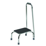 Foot Stool with Hand Rail - Non-slip rubber type mat surface